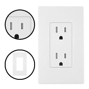 Details About 10 Pack Bestten Less Wall Plate Outlet Covers For Switches 1 4 Gang White