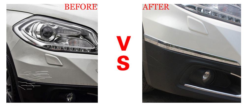 For  Suzuki SX4 S-Cross cover 2013-2016 Chrome Front Rear Bumper Corner Cover