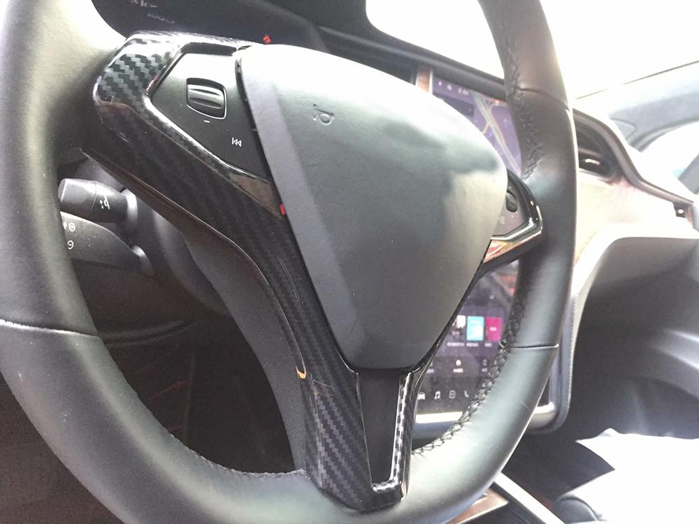 For Tesla Model X 2019-2016 ABS carbon fiber Inner Car ...