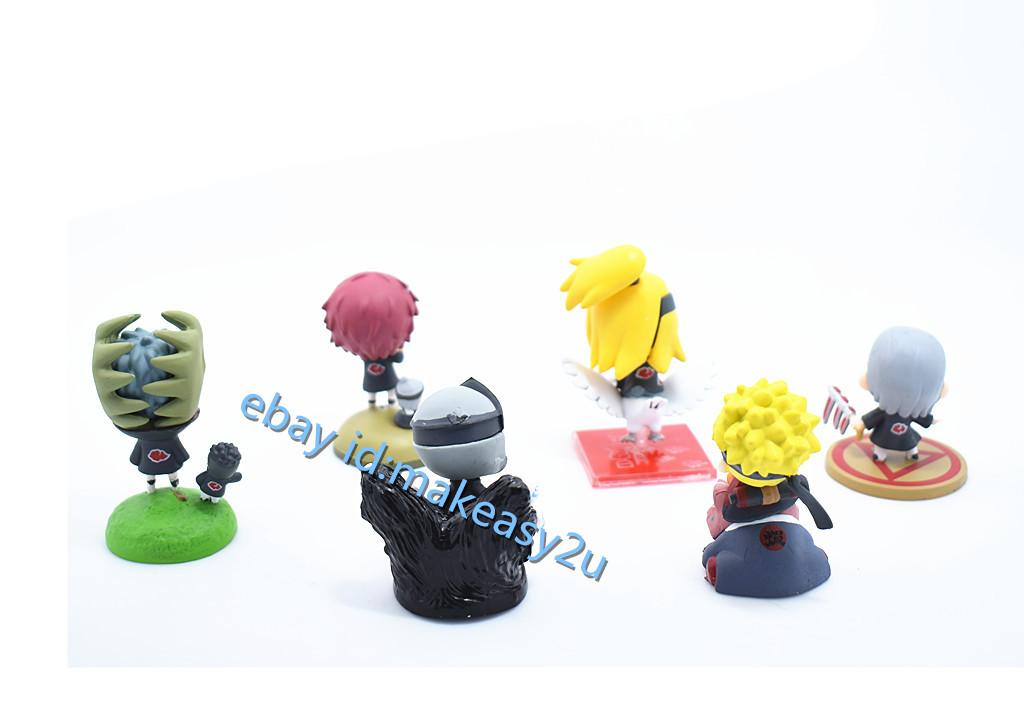 Set 6pcs Naruto Shippuden Petit Chara Land Series 5 Figure 6CM Doll Toy New