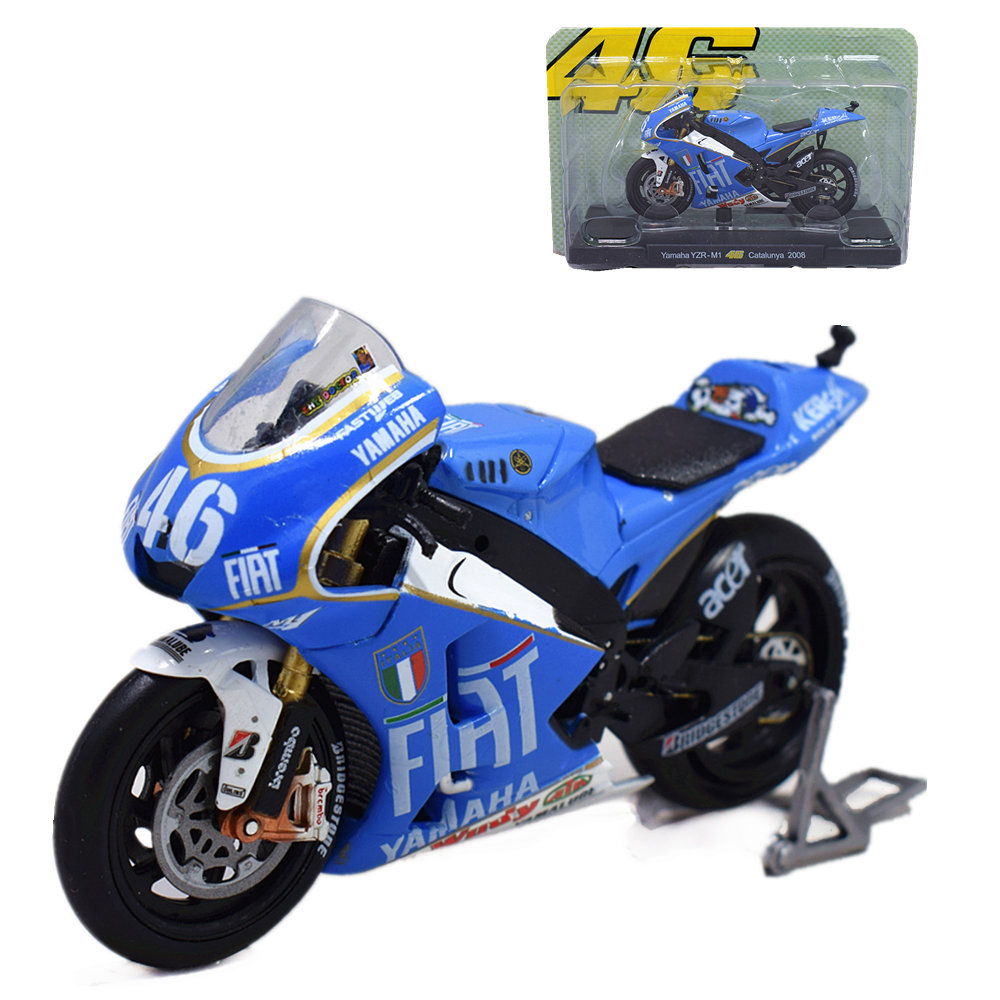 IXO 1//18th Diecast Motorcycle Model Yamaha YZR-M1 Catalunya 2008 Rossi Moto Toys