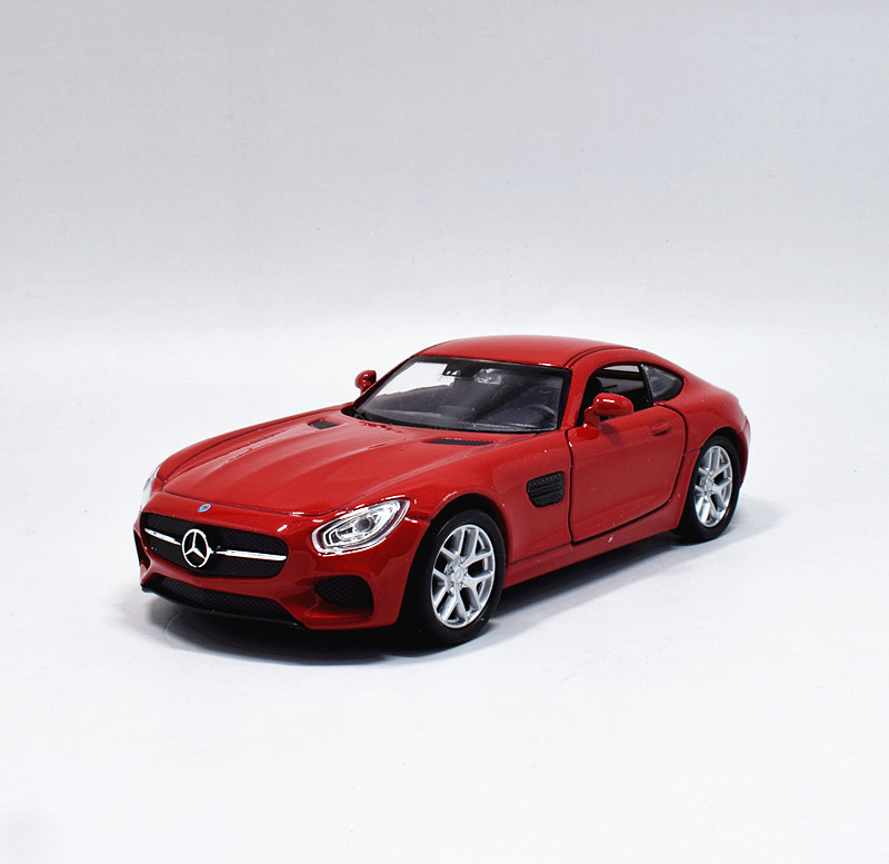 Welly DieCast Modelcar 1//36-39 Mercedes Benz AMG GT dark red new and box