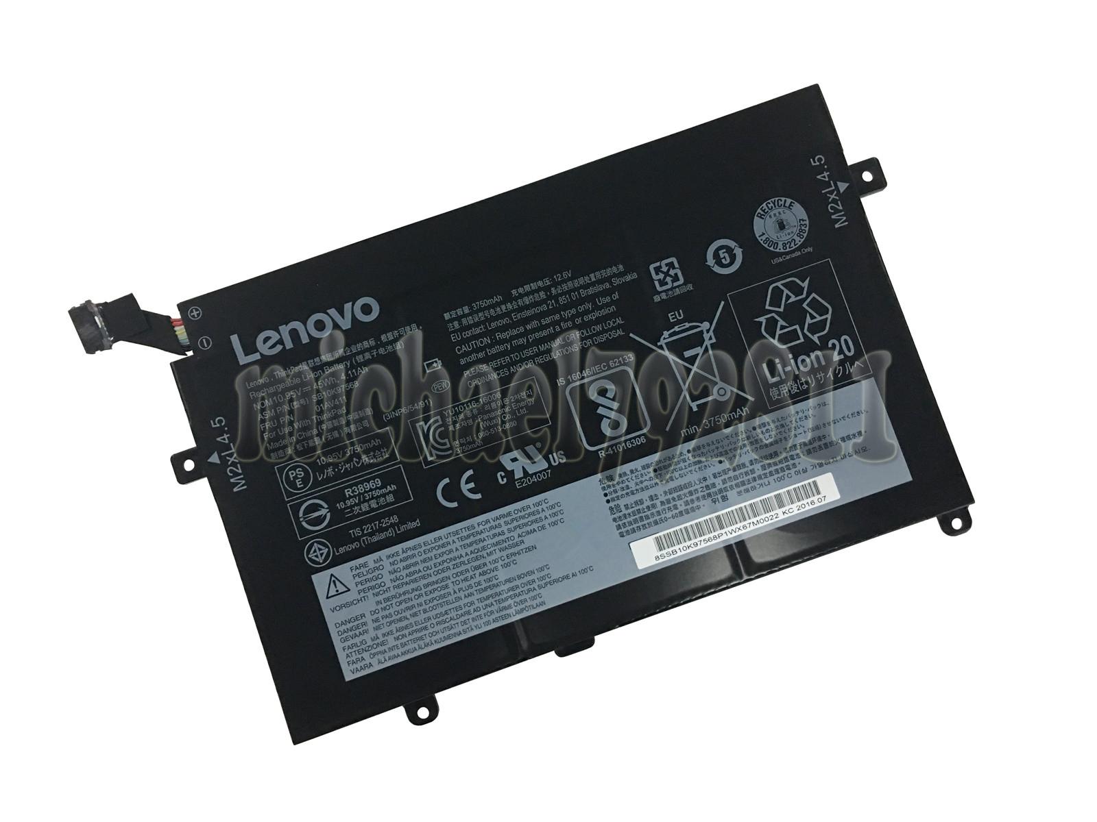 Details about Genuine 01AV411 Battery for Lenovo Thinkpad E470 E470C E475  01AV412 SB10K97568