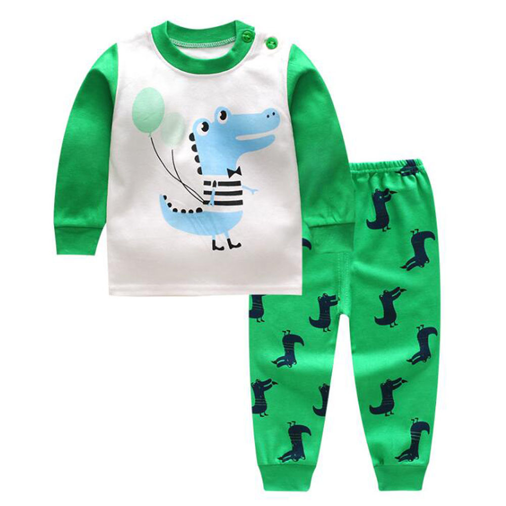 6107b4f71 K Unisex Baby Girls Boys Cotton Pajamas Set Children Toddler ...