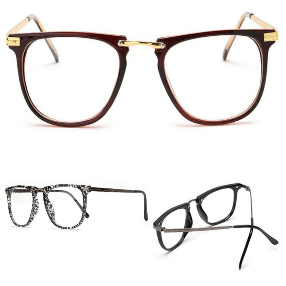 Brille Anti-blaues Licht Computer UV400 Retro Runde Brille Metall Herren Damen UynWyLq