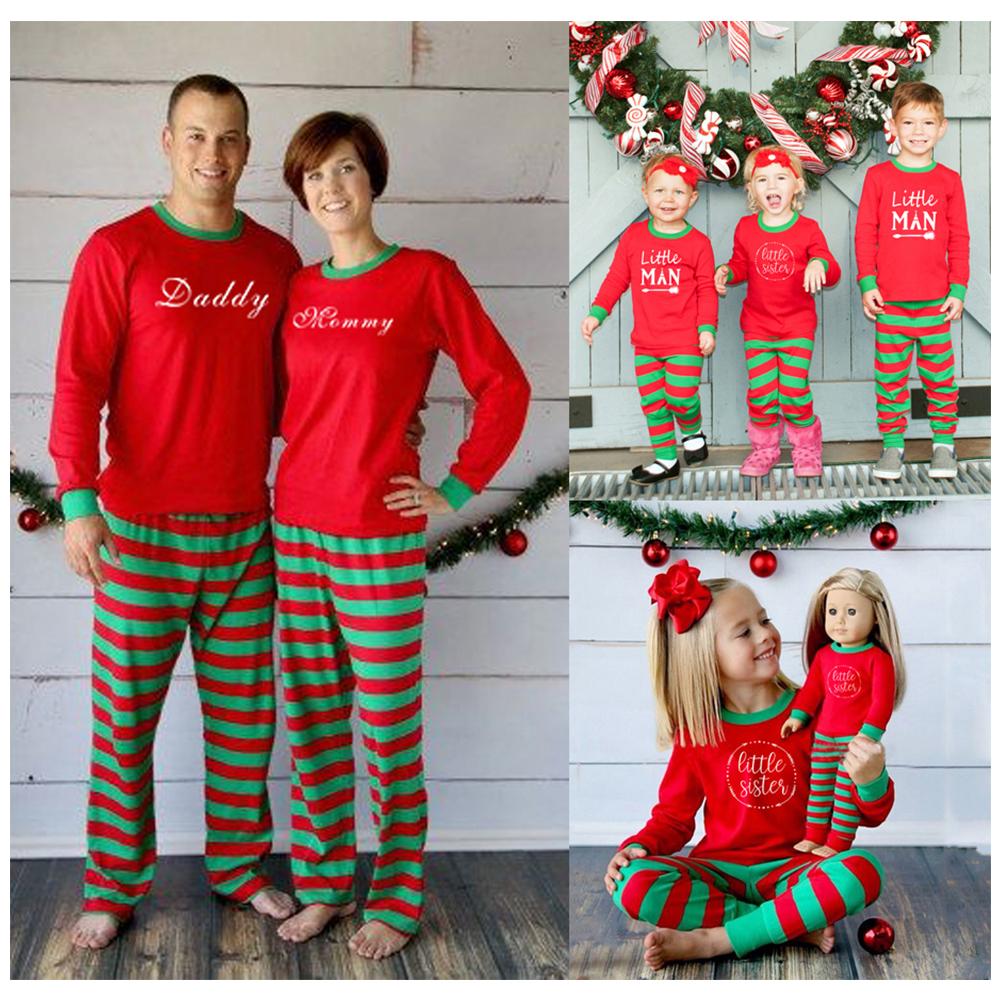 Familie Weihnachten Schlafanzug Weihnachtspyjama Nachtwäsche ...