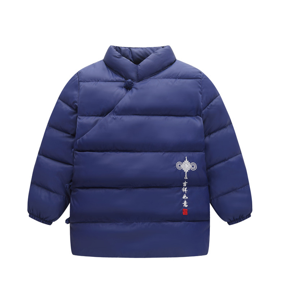 697a3216bc60 Q Chinese Style Down Jacket Kid Boy Girl Light Tops Coat Warm ...