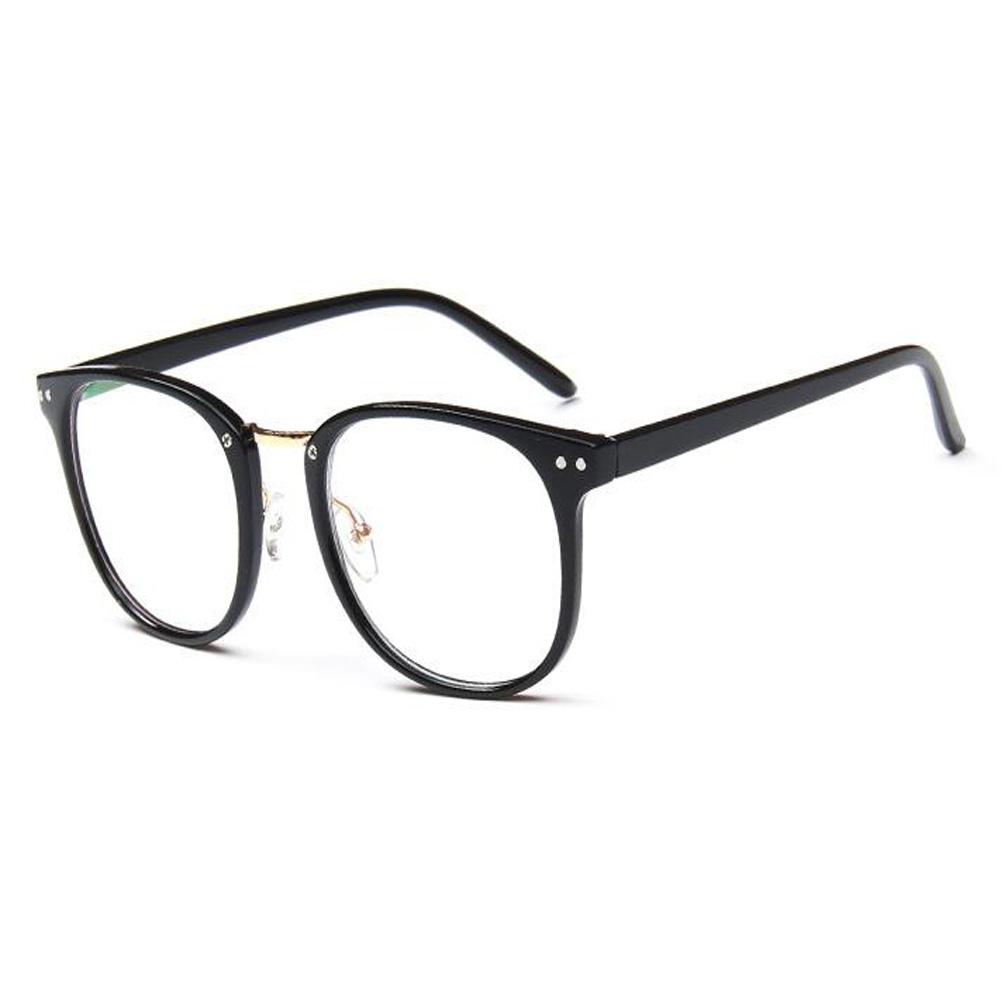 Mode Brille Vintage Optische Gläser Damen Herren Groß Runde Voll ...