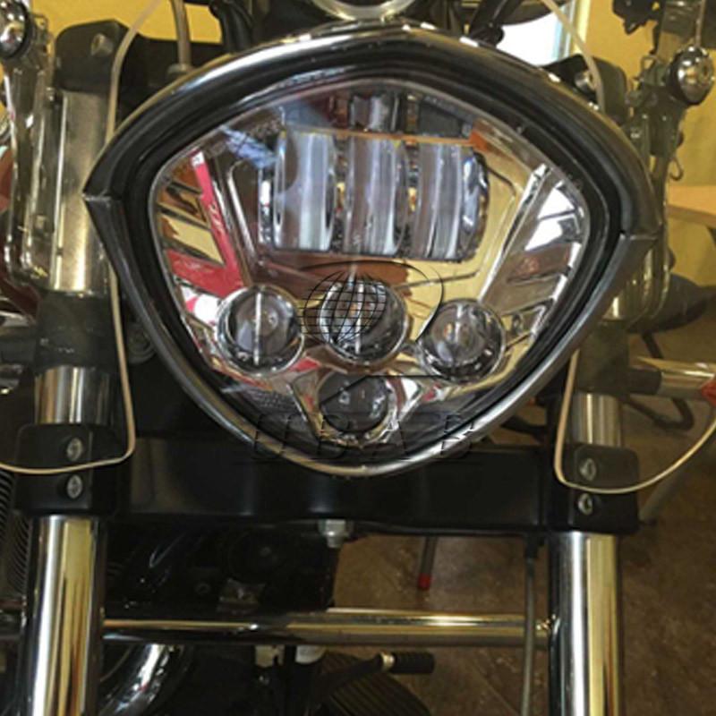 Motorcycle Led Headlight 60w Hi Lo Beam F Victory Cross