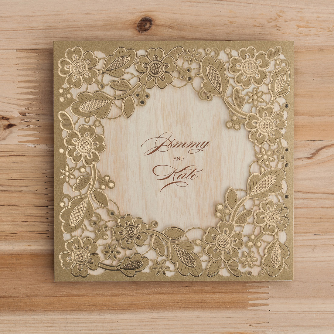 Laser Cut Invitation-Printable Inner Sheet Quinceaneras-Wedding Invitation.