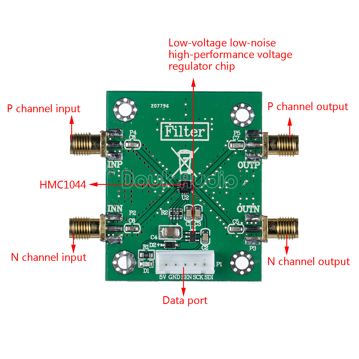 Hmc1044lp3e Programmable Harmonic Low Pass Filter Module 1 3ghz Rf Circuit Diagram Filtering