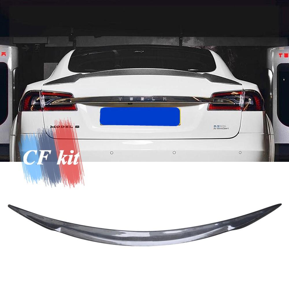 Real Carbon Fiber Rear Trunk Spoiler Wing Lip For 2017 2018-2020 TESLA MODEL 3