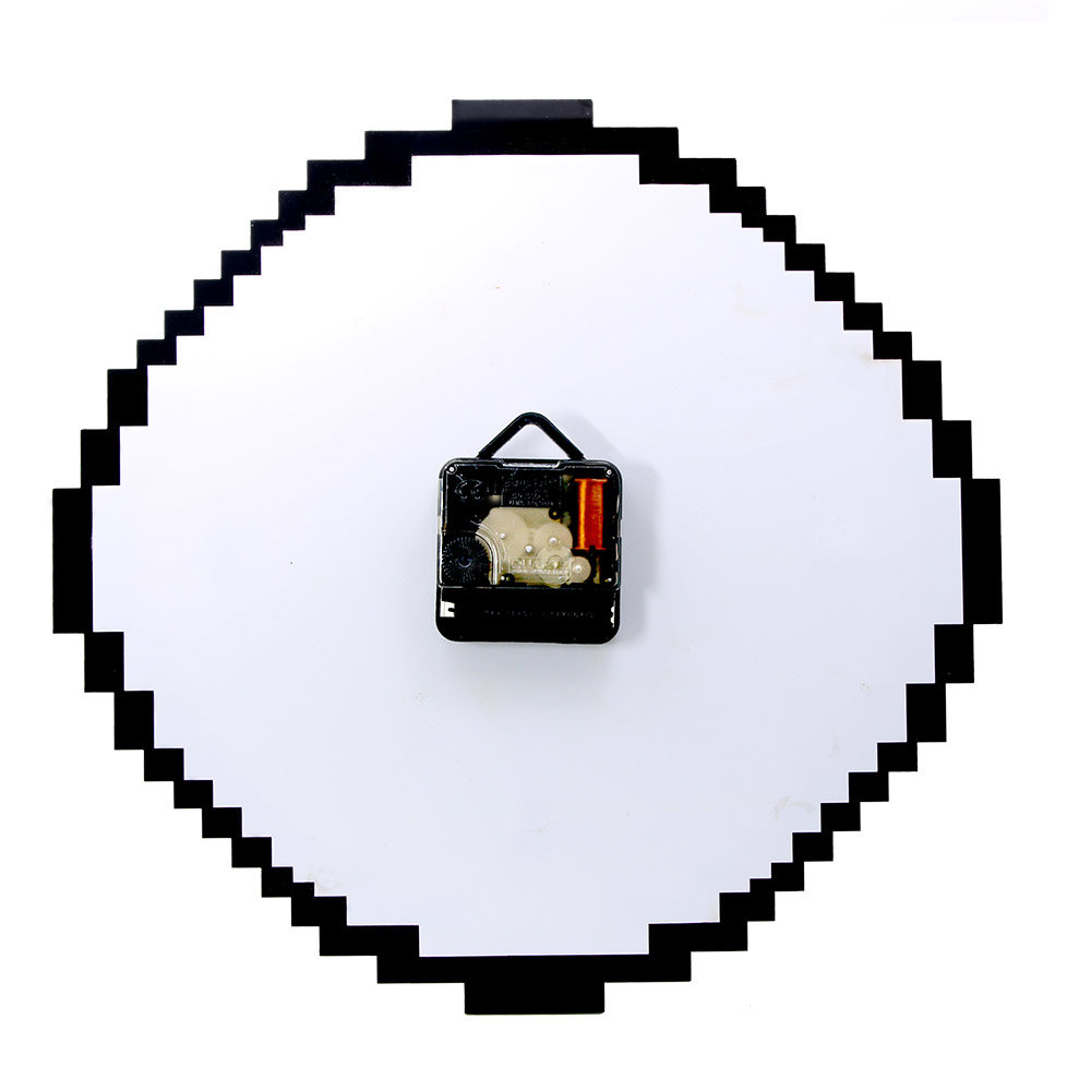11inch Retro Love Pixelated Pixel Time Clock Retro Pixel Wall Clock Ebay