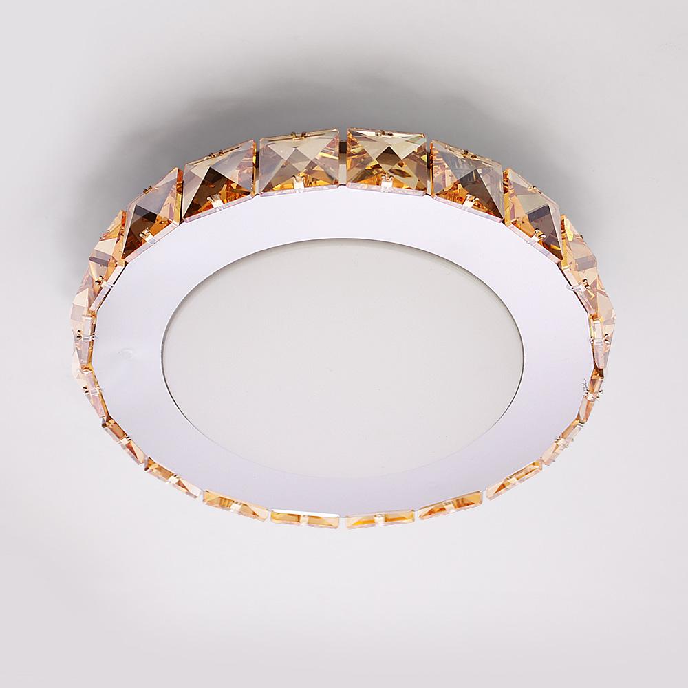 Kristall deckenleuchte led kalteswei 7w deckenlampe mit for Deckenlampe flur