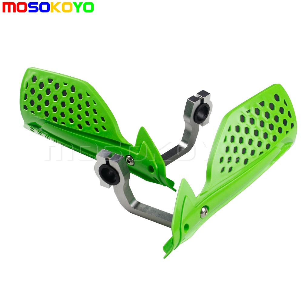 New GREEN Universal ATV Handguards Brush Hand Guards