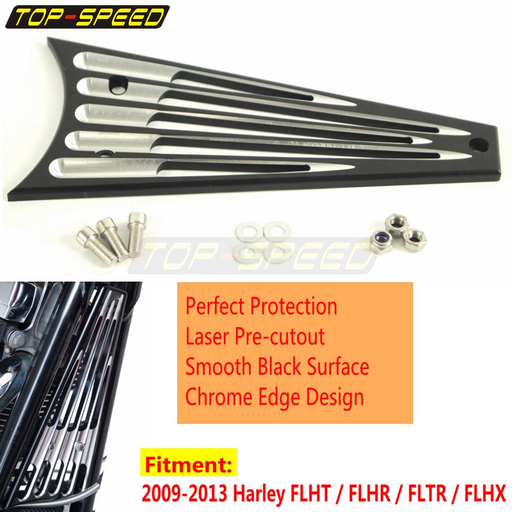 Radiator Frame Deep Edge Cut Grill Cover For Harley Touring FLHT//FLHR//FLTR//FLHX