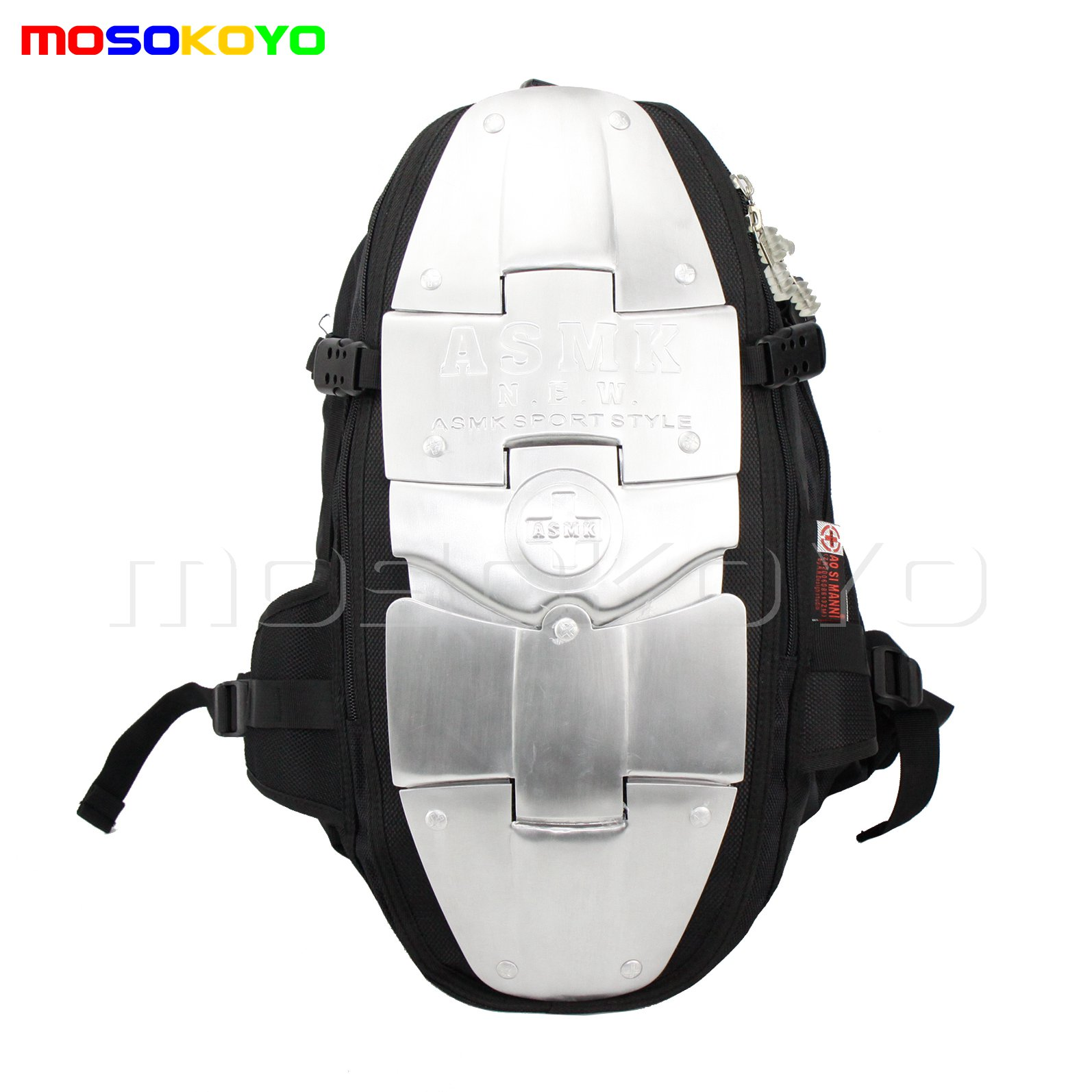Aluminum Armor Spine Protector Motorcycle Bike Riding Gear Large travel Bag Back