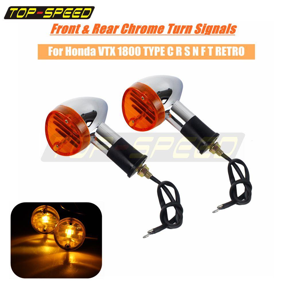 2x Blinker Bullet Turn Signals For Honda VTX 1300 1800 TYPE C R S N F T RETRO