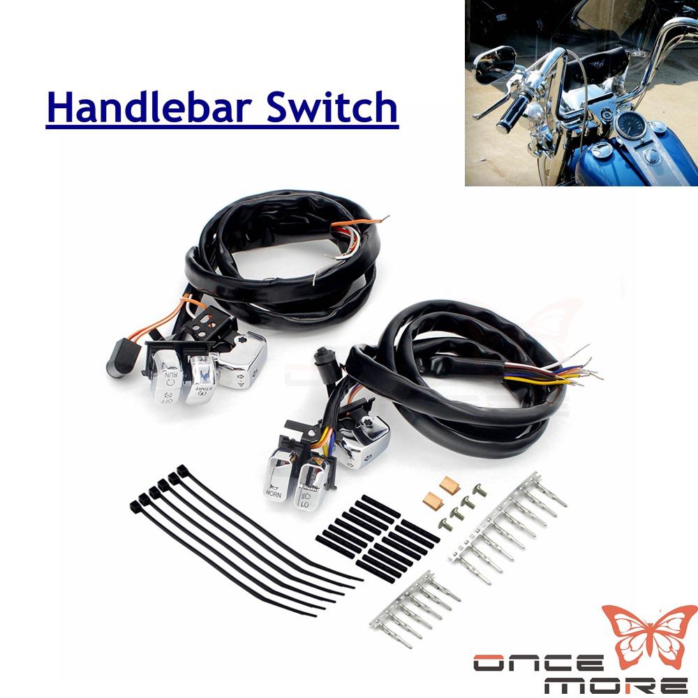 Aluminum Motorcycle Handlebar Switch W  115cm Wiring