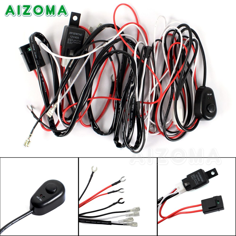 40a 12v On  Off Switch  U0026 Relay Wiring Harness Kit For Fog