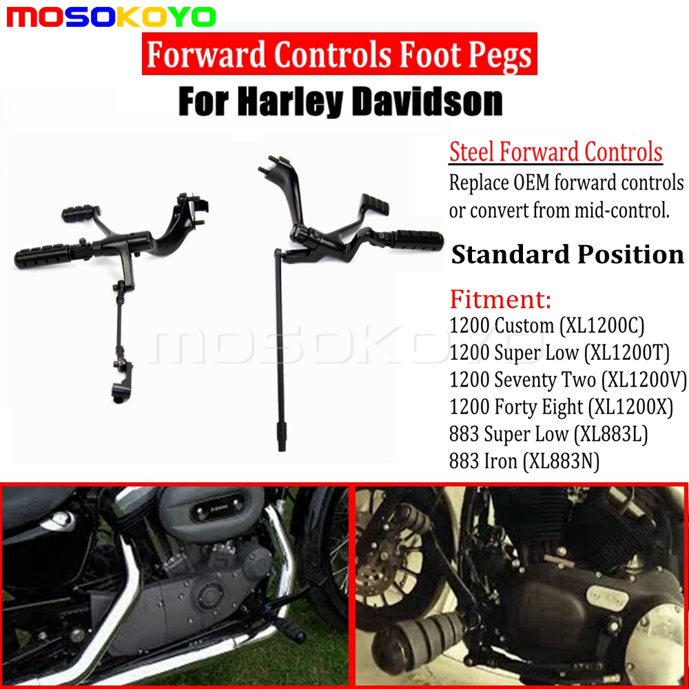 sourcing map 2 in 1 Kickstand Front Foot Pegs Pedal Lever Assy Set for Motorcycle