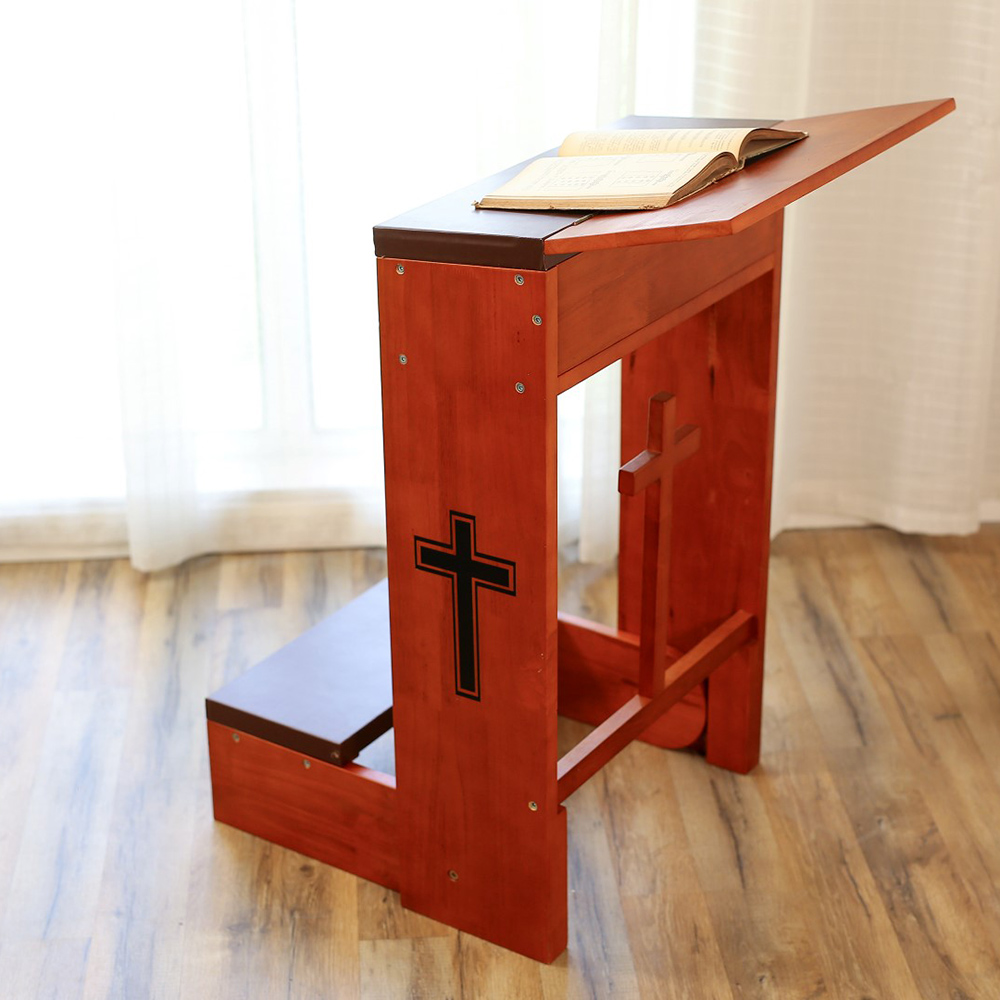 Church Prayer Kneeler Bench Stool Tabletop Padded Folding