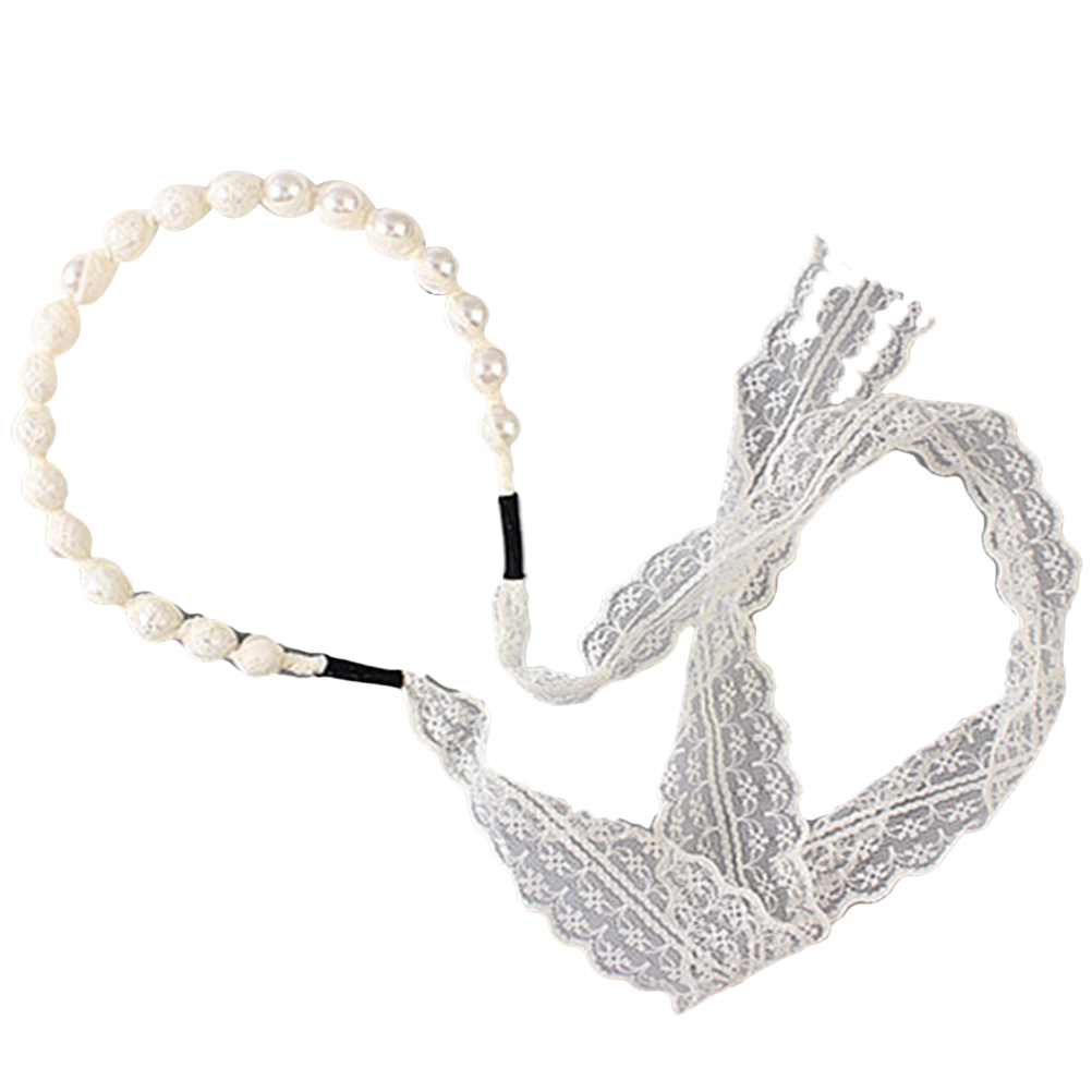 Hair accessories for babies ebay - Image Is Loading Baby Hair Accessories Girls Baby Kids Lace Pearls