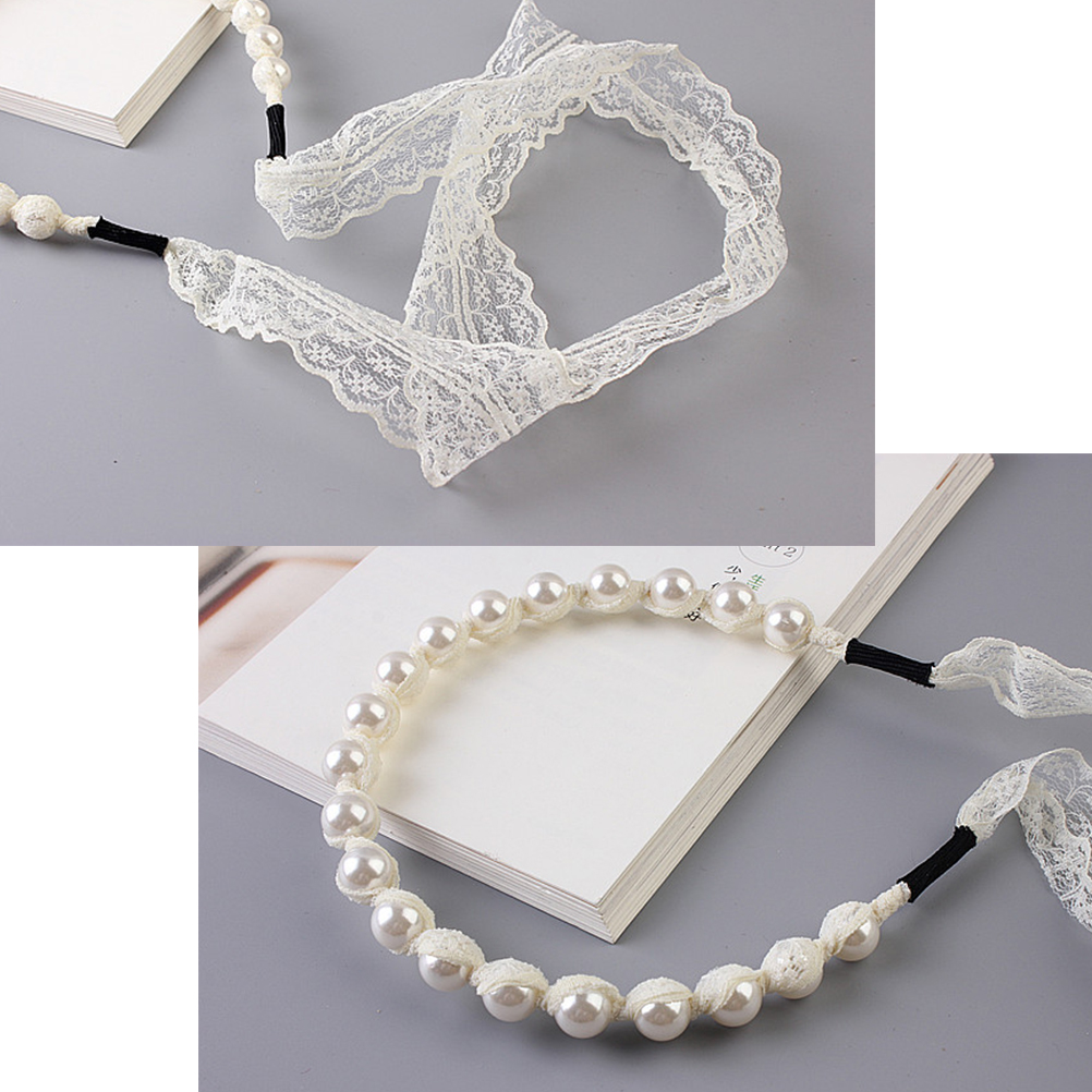 Hair accessories for babies ebay - Baby Hair Accessories Girls Baby Kids Lace Pearls