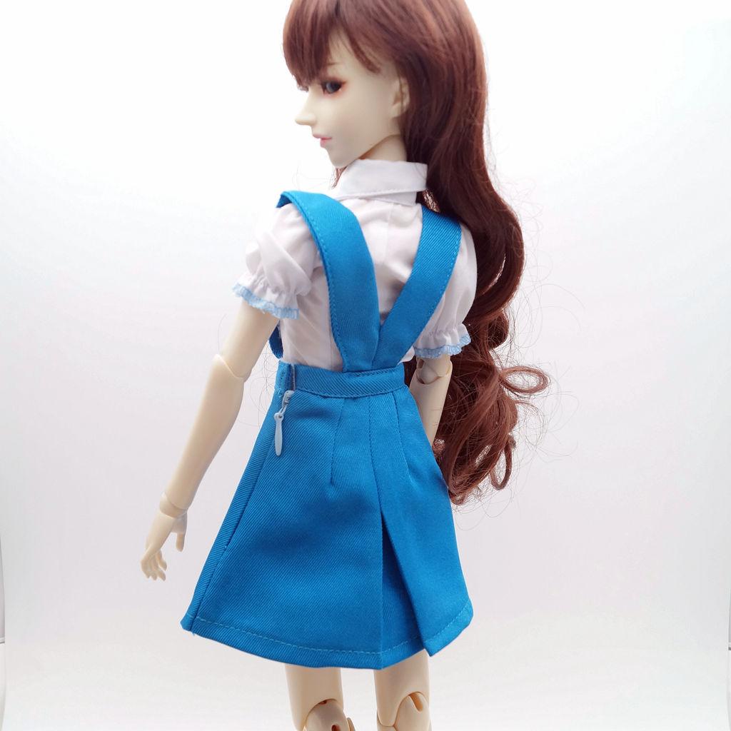"White Stripe Polo T-Shirt Boy/'s outfit for 1//3 24/"" 60cm BJD SD AOD AS Doll G/&D"