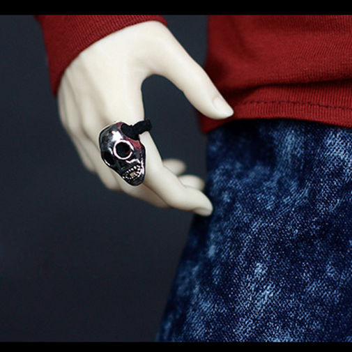 BJD Mini Ring Skull Prop For BJD 1//3 24in SD17 70CM AOD AS DOD SD Use