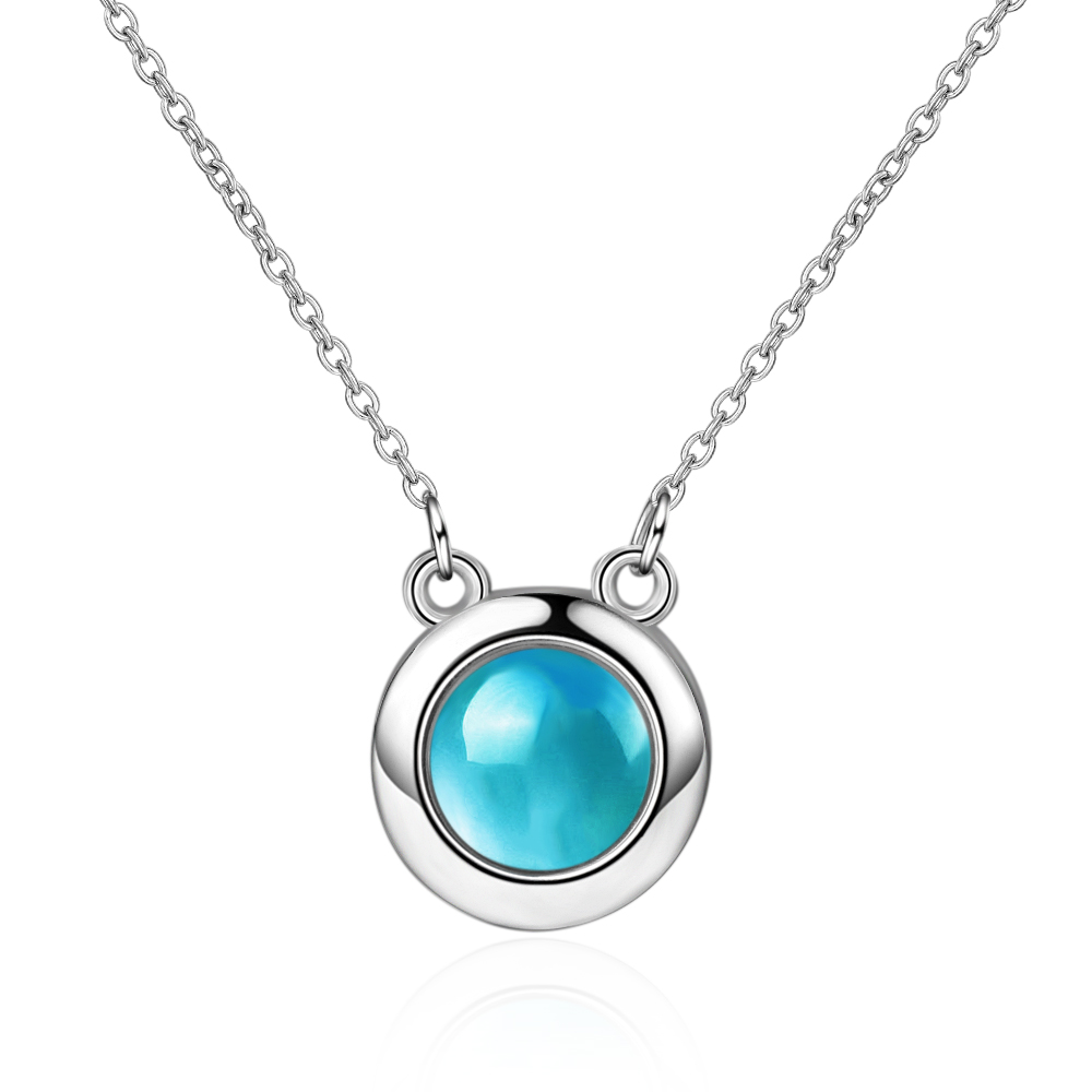 Wholesale Jewelry 925 Sterling Silver Crystal Round Pendants Necklaces