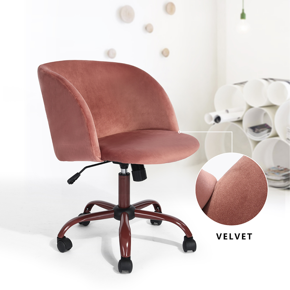 Great Image Is Loading 4 Colors Velvet Armchairs Fabric Swivel Office Chair