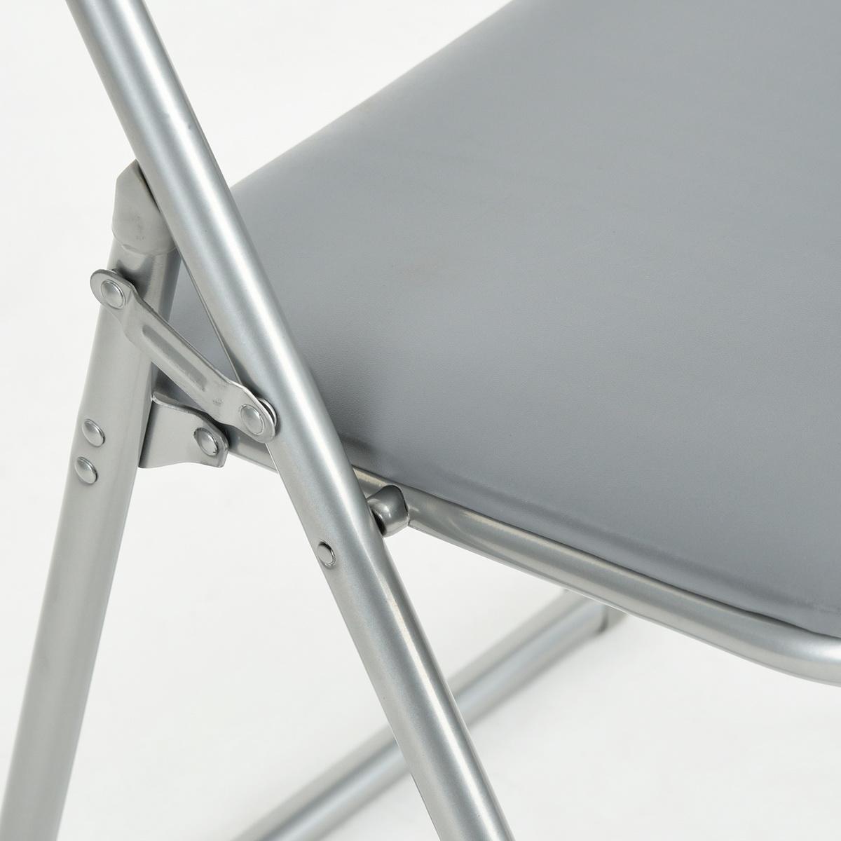 4-PIECES-Chaise-pliante-Colore-Sieges-en-acier-durable-Cuisine-Invites