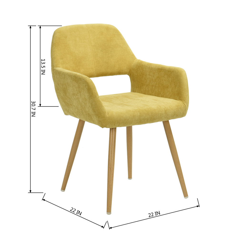 Peluche-Chaise-de-salle-a-manger-Coussin-Jambes-metalliques-Cafe-chaise