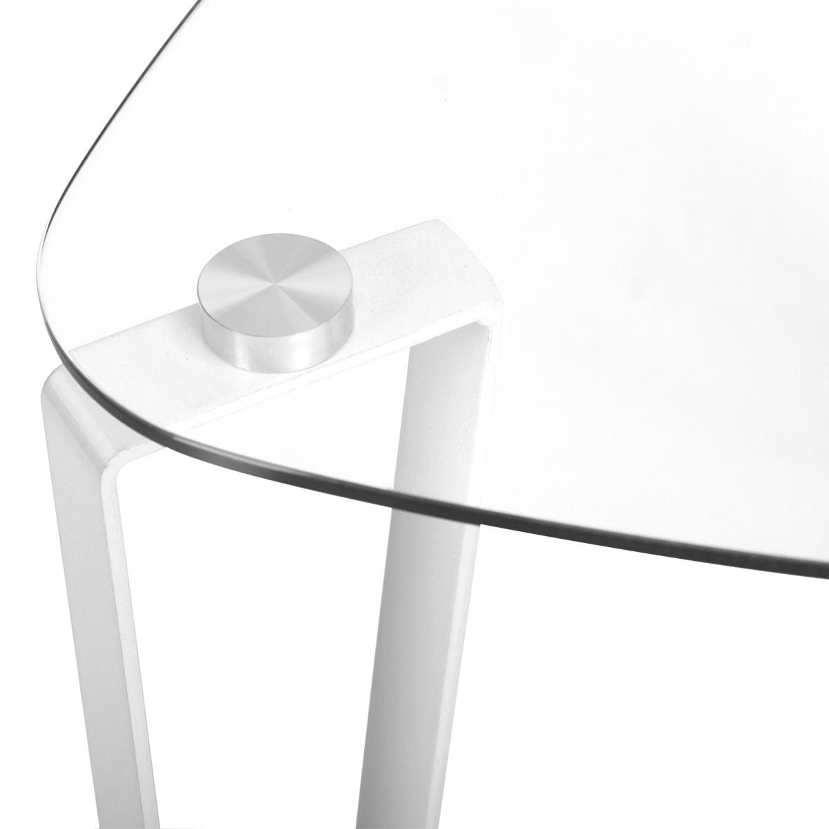 44cm-Table-basse-en-verre-trempe-Triangle-Clear-fin-de-table-Table-d-039-appoint