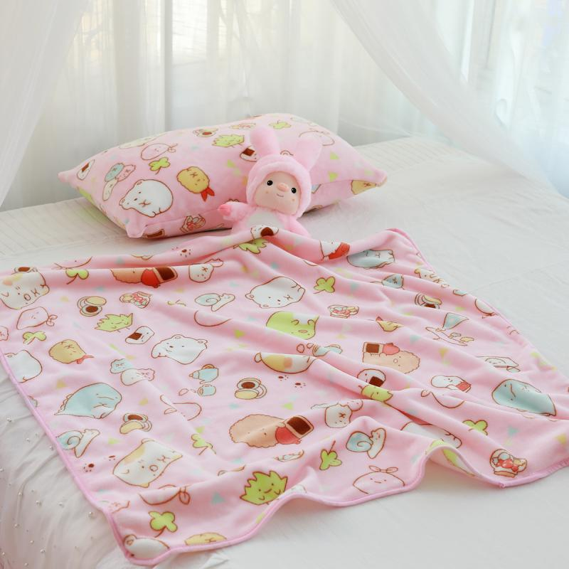 Sumikko Gurashi pink fleece Blankets Throws quilt soft blanket pillowcase new