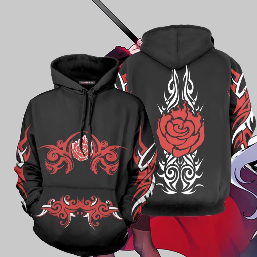 Anime RWBY Season 1 Ruby Rose 3D Hoodie Cosplay Sweatshirt Zipper Coat Jacket