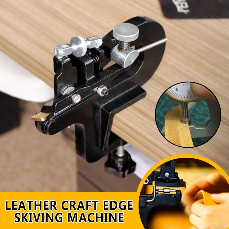 Leather Craft Edge Skiving Machine Leather Splitter Skiver Paring Tool DIY 809BP