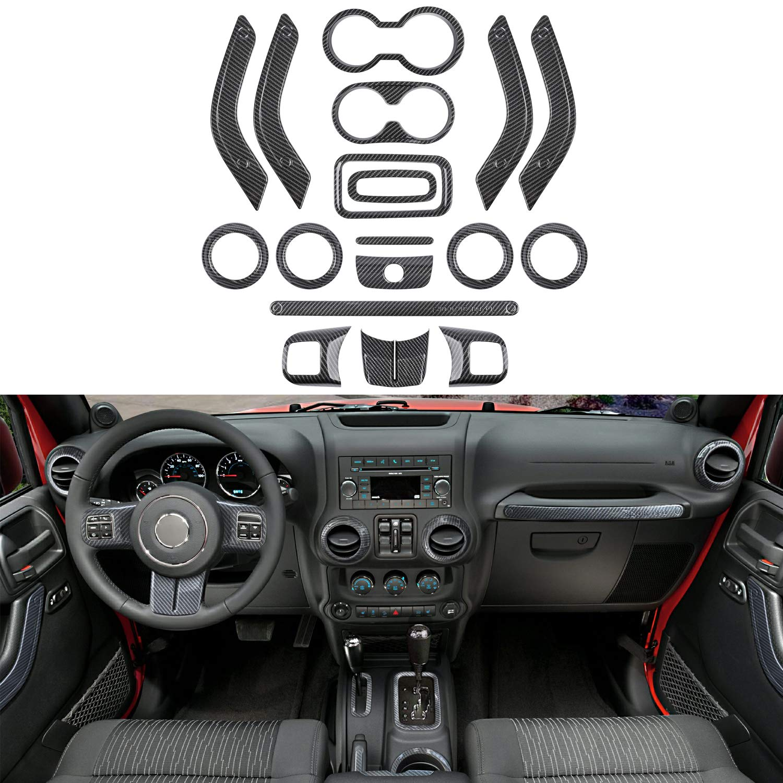Black Handbrake Handle Decorative Cover for Jeep Wrangler 2011-2017 Mouldings
