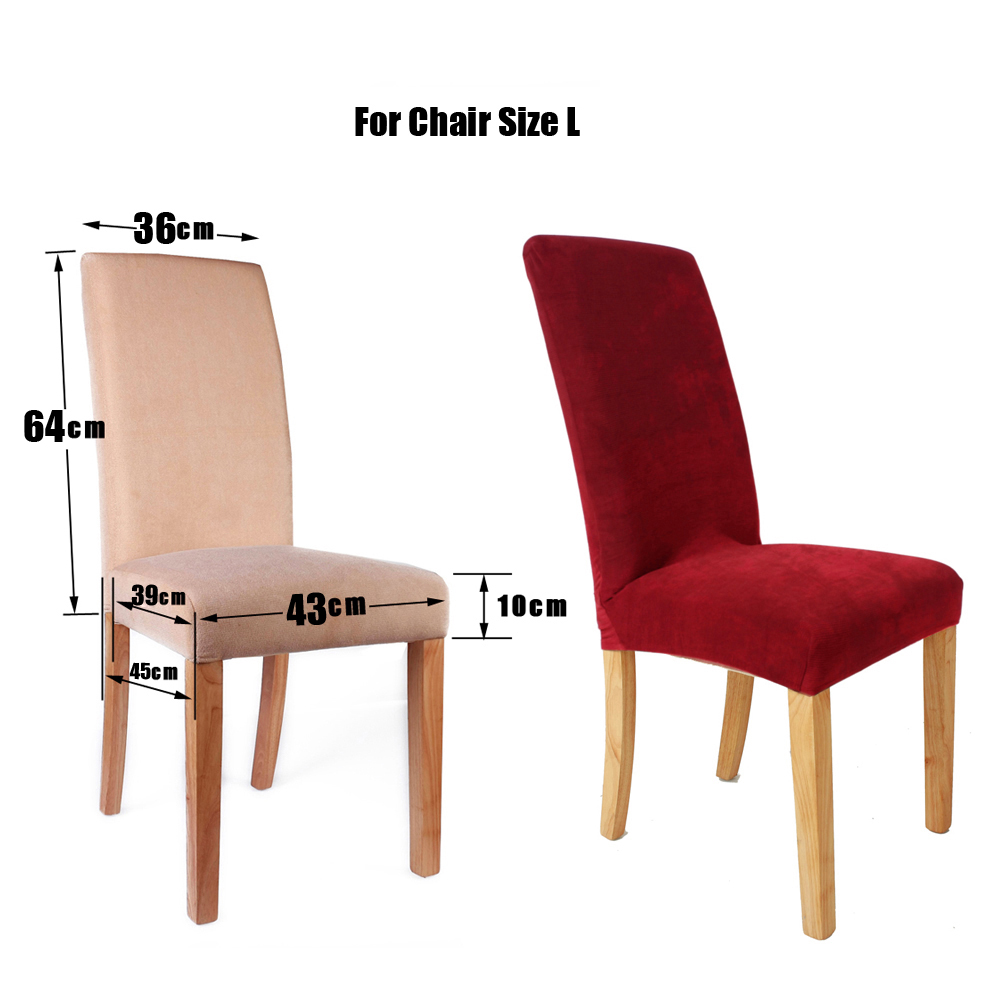 Stretch Easy Fit Short Dining Room Chair Cover Slipcovers