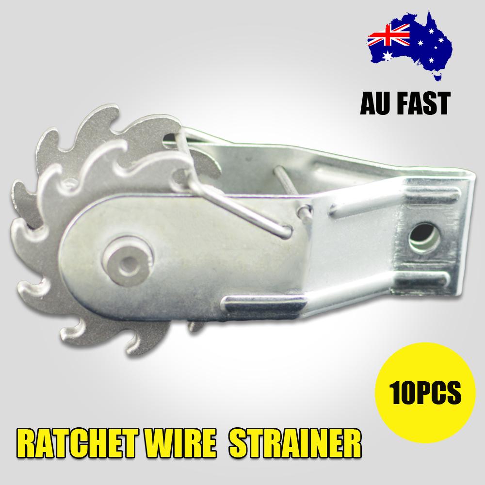 10 Inline Ratchet Wire Strainer Tensioner Fencing Electric Fence ...