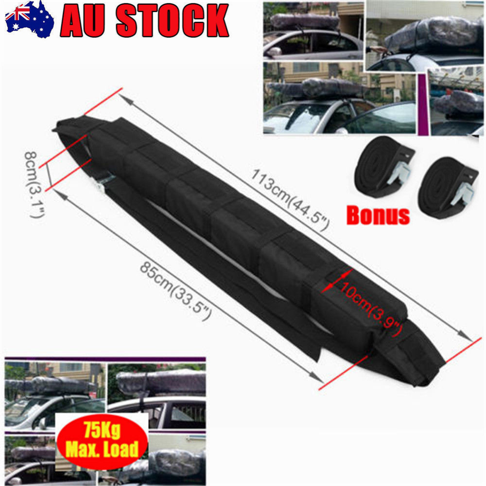 Luggage Car Kayak Surf Roof Racks Soft Canoe Ski Sup Snow