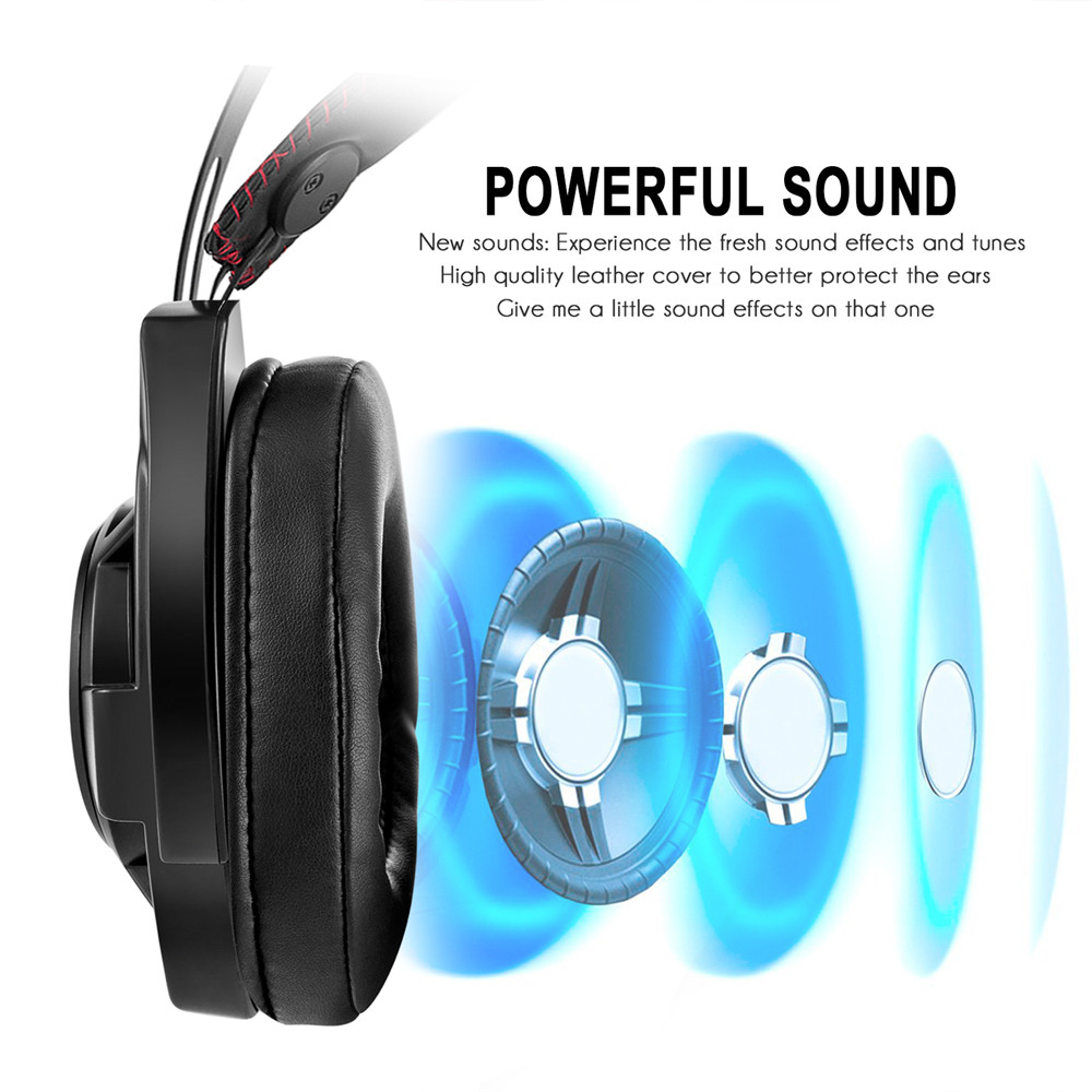 3.5mm Gaming Headset Mic LED Headphones Stereo for PC Laptop PS4 ...