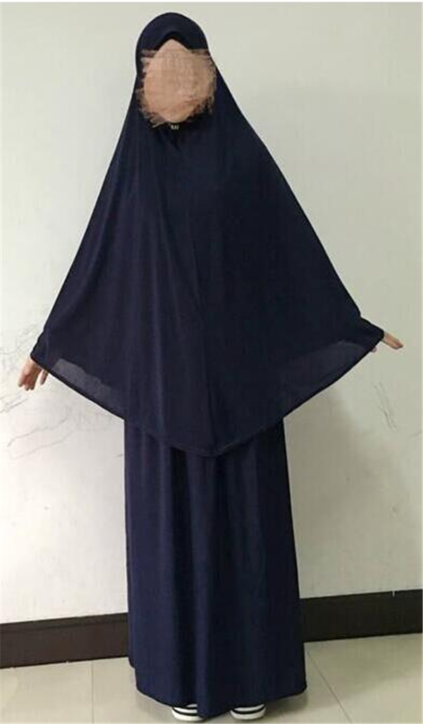Women/'s Muslim Islamic 2 Pcs Prayer Sets Ladies Hijab Jilbab Abaya Skirt Dress