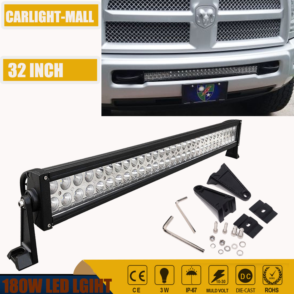 32 led light bar 180w spot flood combo offroad roof bar lights jeep 32 led light bar 180w spot flood combo offroad roof bar lights jeep 4x4 truck aloadofball Gallery