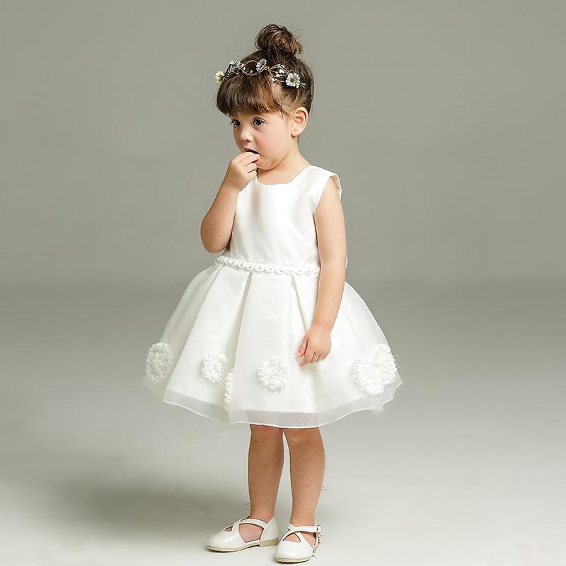 Kids Baby Flower Girl Dress Birthday Party Wedding Formal Tutu