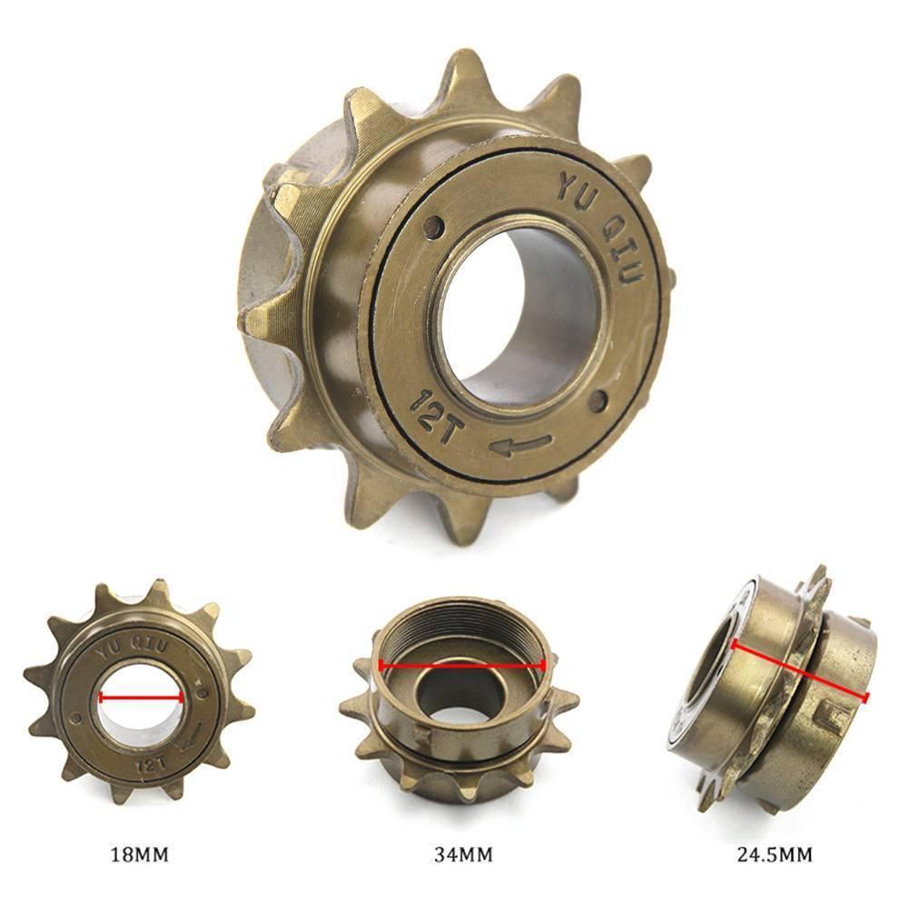 12T Teeth Single Speed Freewheel Sprocket Gear Bicycle Accessories Freewheel  ZP