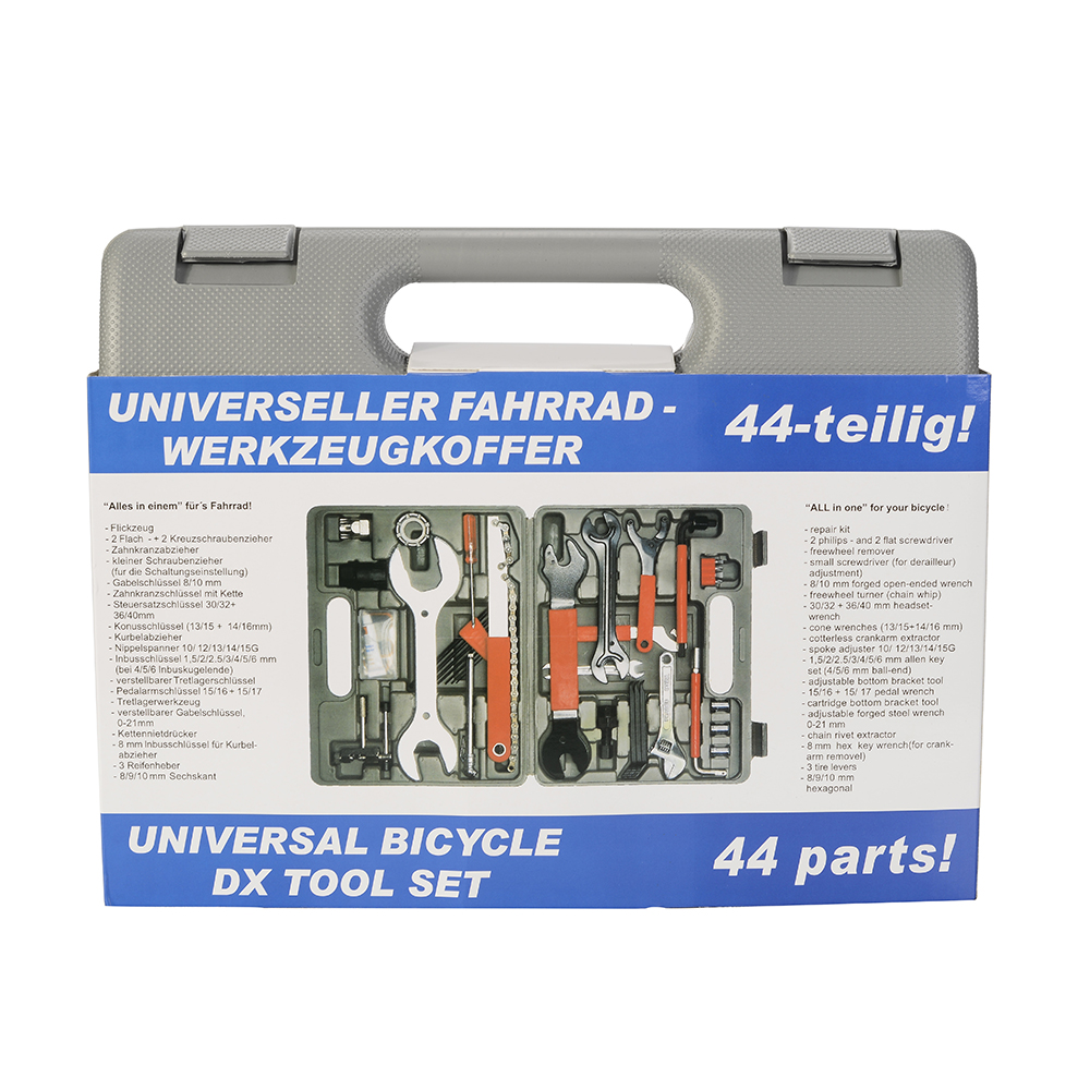 44PCS Bike Repair Tool Kit Set Multi-function Bicycle Maintenance with Box