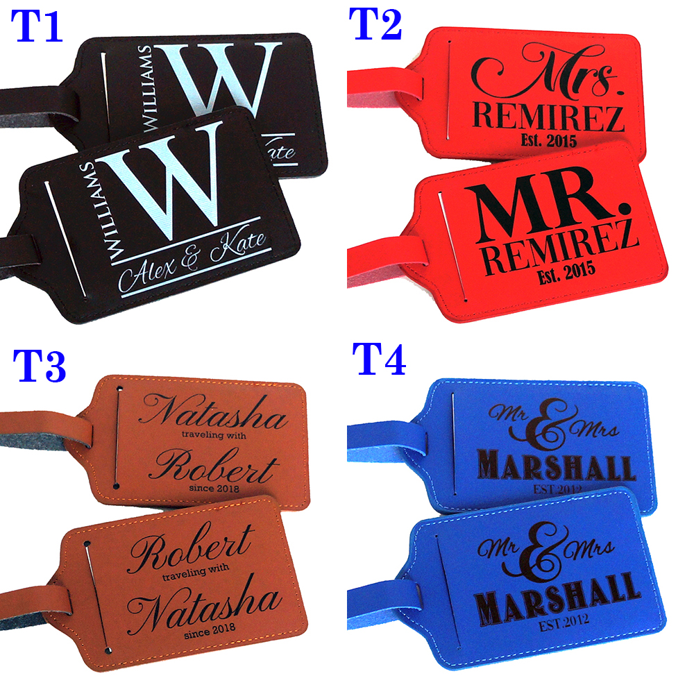 Details About Pair 2 Personalized Luggage Tag Travel Accessories Custom Luggage Tags Gift D