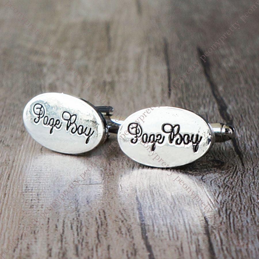 Silver Plated Mens Wedding Cufflinks Sets Cuff Links